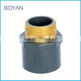 Made In China BOYAN PVC ASTM SCH80 Grey Pipe Fitting Thread Adapter Male Coupling Copper Fitting