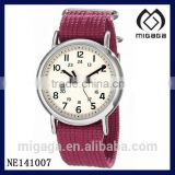 Unisex Fuchsia Nylon Strap Watch U.S.A. popular wristwatches/Good quality U.S. FASHION nightlight ANALOG QUARTZ WATCH