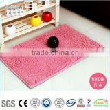 NEW machine made washable super soft door mat , wholesale foam backed chenille mat / Chenille mat-QINYI