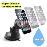 360degree Rotating Double use Mobile Phone GPS Universal Magnetic Car Windshield Dashboard Sticker Gel Mount Holder