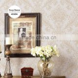 stock embossed pvc wallpaper, retro damask wall paper for room , absorb sound wall sticker wholesale