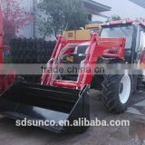 Competitive Quality !! 120 hp 4WD Farm tractors with implements,front end loader,backhoe,log trailer with crane