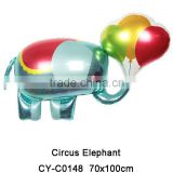 Lovely new shaped Circus Elephant Mylar balloon Animal helium balloon for party decoration