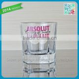 2015 new design ABSOLUT KURANT famous brand Popullar vodka short glass cup