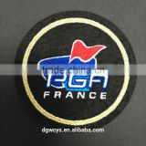 Round custom patch Africa guinea brocade embroidery patch iron on garment/ trousers / bags
