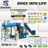 New products Concrete/cement/fly ash paver brick making machine/concrete block making machine QTJ4-25