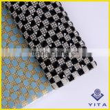 China factory sell square black and white glass hot-fix sticker rhinestone sheets for shoes accessories