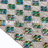 Hotsell glasses rhinestone sheet Hotfix Square Diamond Rhinestone Mesh For Garment accessories