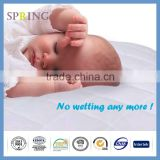 Baby Waterproof Crib Mattress Cover Quilted Ultra Soft White Bamboo