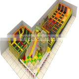 large trampoline party supplies for kids and adults games with ocean ball pool and foam pit and big slide