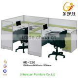Beauty salon F-shape 120 degree 2 person workstation