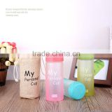 Glass drinking bottle glass cup glass water bottle with bamboo lid