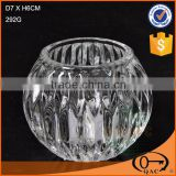 Clear glass candle holder decorative candle jar                                                                                                         Supplier's Choice