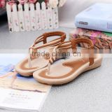 Z91090A Wholesale new fashion low price ladies sandals Women Girl's Summer Bohemia Flat Sandals Comfortable Shoes women