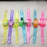 New style/design Children event&party led flashing wristband/bracelet cartoon PVC material