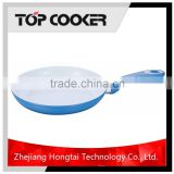 Blue color forged aluminum ceramic electric fry pan