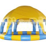2016 unique design large inflatable swimming pool with dome for sale, inflatable swimming pool cover