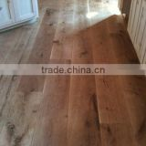 Multifunctional chinese oak wood flooring with CARB certificate White wire brushed oak engineered flooring