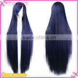 Dark Blue Very Long Curly Cosplay Costume Party Wig Cheap Wigs