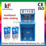 2015 alibaba china Semi Automatic toothpaste tube Sealing Machine small manufacturing machines