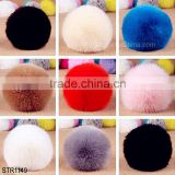19 colors size of 10cm Cute Fluffy Ball imitation fox fur ball keychain Pendant Handbag Charm Keyring