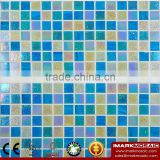 IMARK Blue Gold Star Glass Mosaic Tile Mix Quartz Glass Mosaic Tile Kitchen Tile Bathroom Tile Wall Art Mosaic Wall Tile