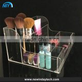 pecial storage drawer box for cosmetic, high quality handmade black acrylic makeup organizer OEM