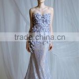 AR-124 Light Purple Blue Appliques Abiye Uzun Simple Generous High Quality Long Nude Mermaid Elegant Ladies Evening Dresses