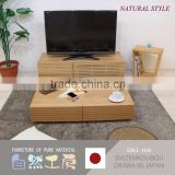 Easy to use and High quality home furniture tv stand with various kind of wood made in Japan