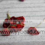 Wholesale 10CM Fabric Material Artificial Flowers Plant Type High Quality Artificial Rose Flowers