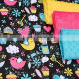 China wholesale fabric cute cartoon baby minky fabric for bedding sets