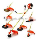China Best 65cc 7 in 1 multifuction7 in 1 brush cutter,hedge trimmer, pole saw, grass trimmer