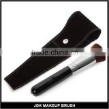 Professional big flat top makeup brush for face cream mineral cosmetics with velvet cosmtic bag