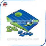 Swimming Pool Game Floating Inflatable Bean Bag Toss Game Cornhole Set with 8 Water Proof Bean Bags