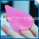 Random Color Cosmetic Pad Tool Blackhead Remover Beauty Facial Cleansing Cleanser Scrub Silicon Brush