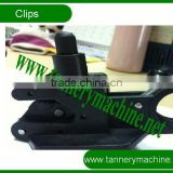 cow cattle buffalo leather plastic toggling machine clips