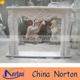 European style havd carved indoor usage natural marble fireplace NTMF-F832A