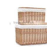 Hand made wicker material casket for sale