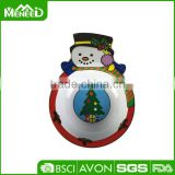 FDA custom size wholesale Christmas design, holiday tableware unbreakable melamine christmas snowman bowl