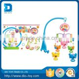 2016 hot selling item baby musical baby rattle music bed bell baby musical hanging toys plastic rings for baby toy