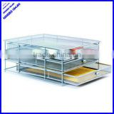 2013 best selling 3 tier office metal mesh desk filing cabinet tray