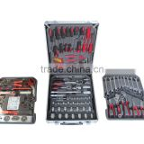 LB-488 256pc Golden wrench black and red plier screwdriver hand tool set tool kit in cabinet