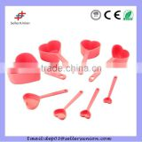 8 pcs heart shaped measuring spoon