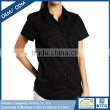 Bulk Fashion Model Eco-friendly Fabric OKEO Ladies Work Shirt Short-Sleeved with Multi Colors