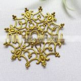 hollow brass flower jewelry hair DIY accessories
