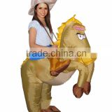 2016 Wholesale party supply inflatable horse mascot costumes