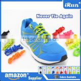 Lazy Person Using Elastic Shoelaces~Colorful Elastic Lazy No Tie Rope Promotion shoelaces~Available in 10 colors~Accept Custom