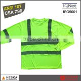 Eyes bird wear reflective safety work shirt fluorescent yellow hi vis t-shirt