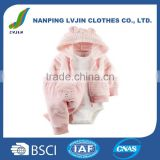 Wholesale High Quality Autumn Winter 3pcs/Set Newborn Infant Baby Girls' 3 Piece Terry Cardigan Set