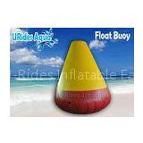 4M Yellow , Red Large Inflatable Water Games Buoy Cone Shape 0.9mm PVC